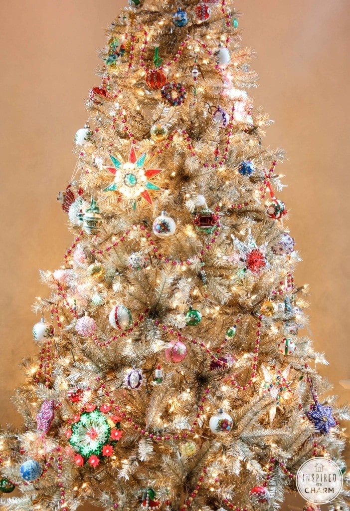 Vintage Inspired Christmas Tree Decorations