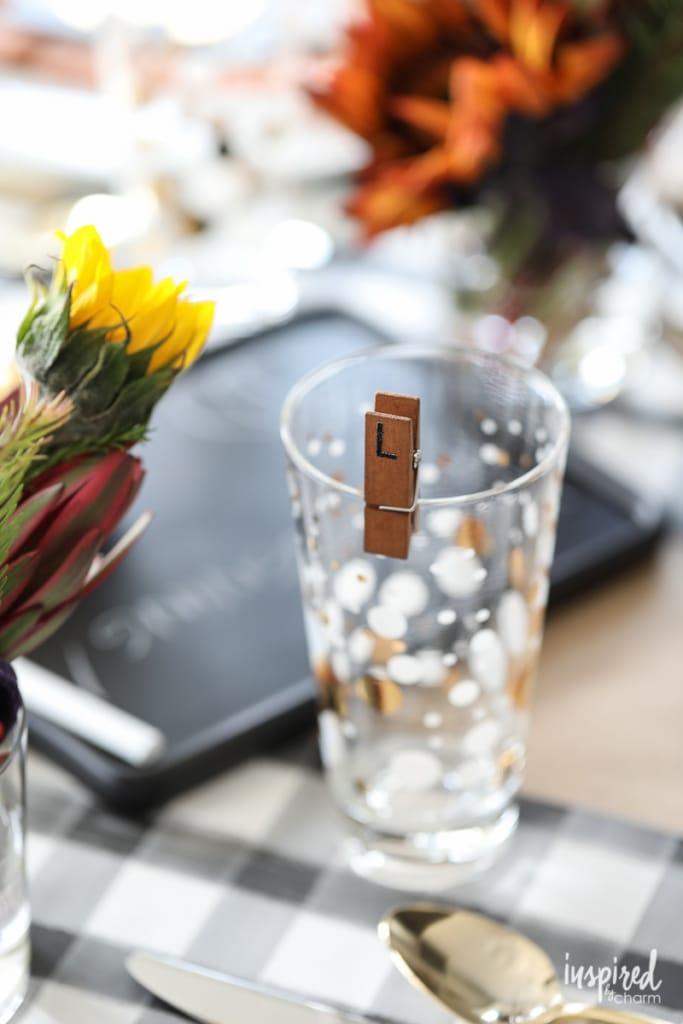 Friendsgiving Ideas - DIY wine glass charms