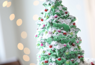 Holiday Dessert Recipe - Christmas Tree Gingerbread Cake