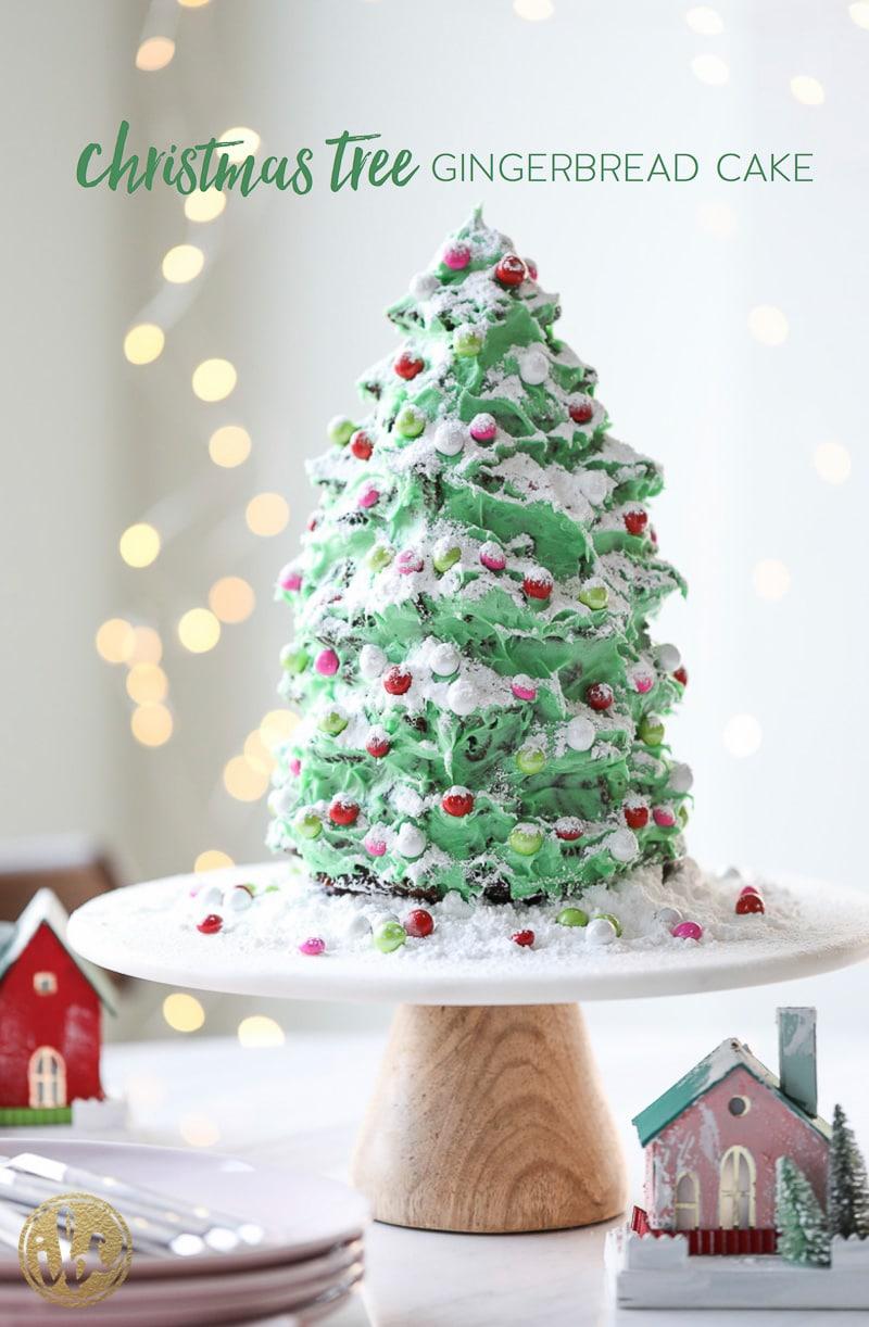 Holiday Dessert Recipe - Christmas Tree Gingerbread Cake
