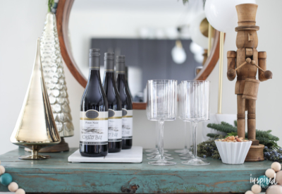 How to Set Up the Ultimate Holiday Bar Cart | Inspired by Charm