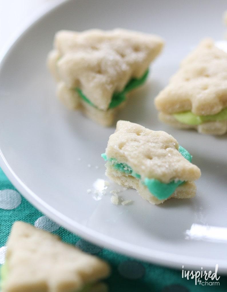 Christmas Tree Cream Wafer Cookies - Best Christmas Cookies recipes