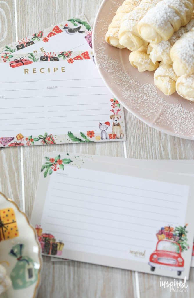 Download these Christmas Recipe Card Printable! #recipecard #prinable #download #christmas #holiday