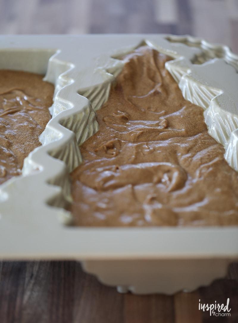 Christmas Tree Mold Gingerbread Cake