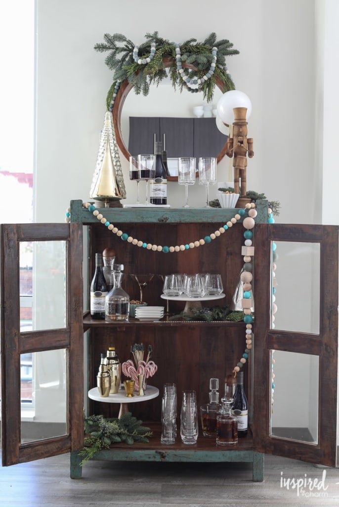 Tips for Styling the Ultimate Holiday Bar Cart