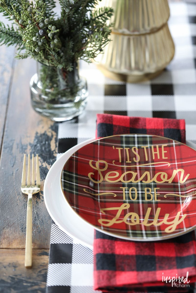 12 Styling Tips: Christmas Table Setting Ideas | Inspired by Charm ...