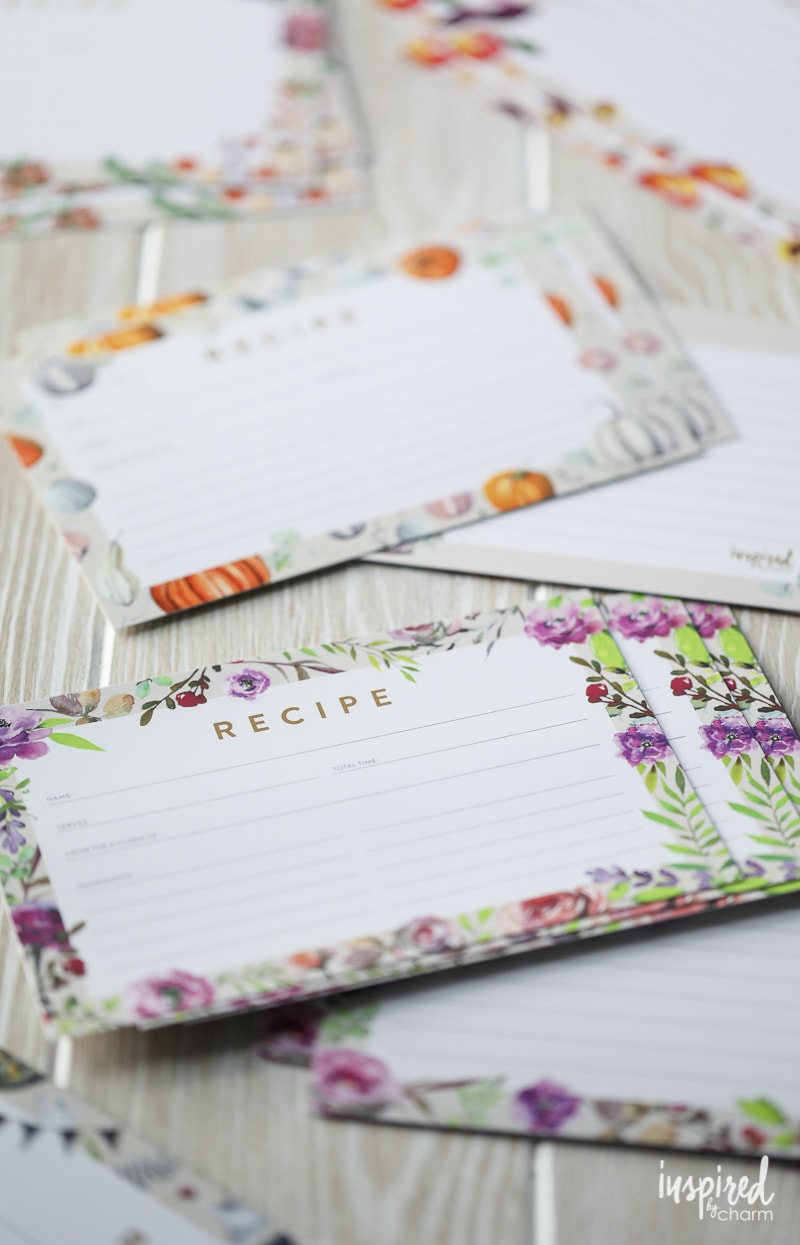 Printable Seasonal Recipe Card - Free Download