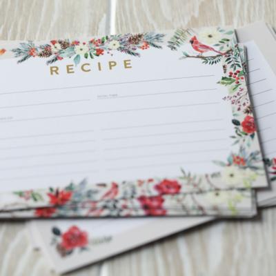 A FREE Winter Recipe Card Printable