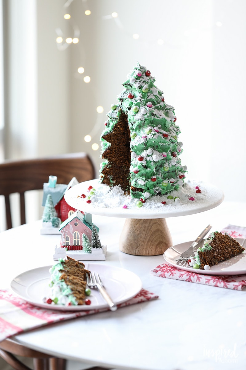 Christmas Tree Gingerbread Cake dessert recipe