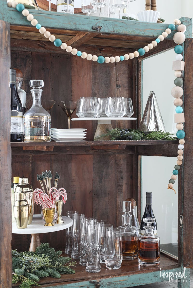 Unique Ideas for Styling a Holiday Bar Cart