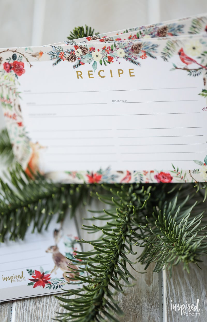 Printable Winter Recipe Card - Free Download