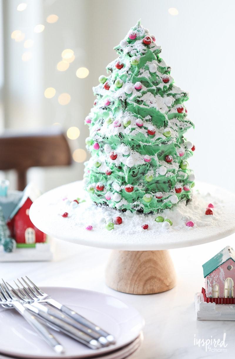 Christmas Tree Gingerbread Cake Holiday Dessert recipe