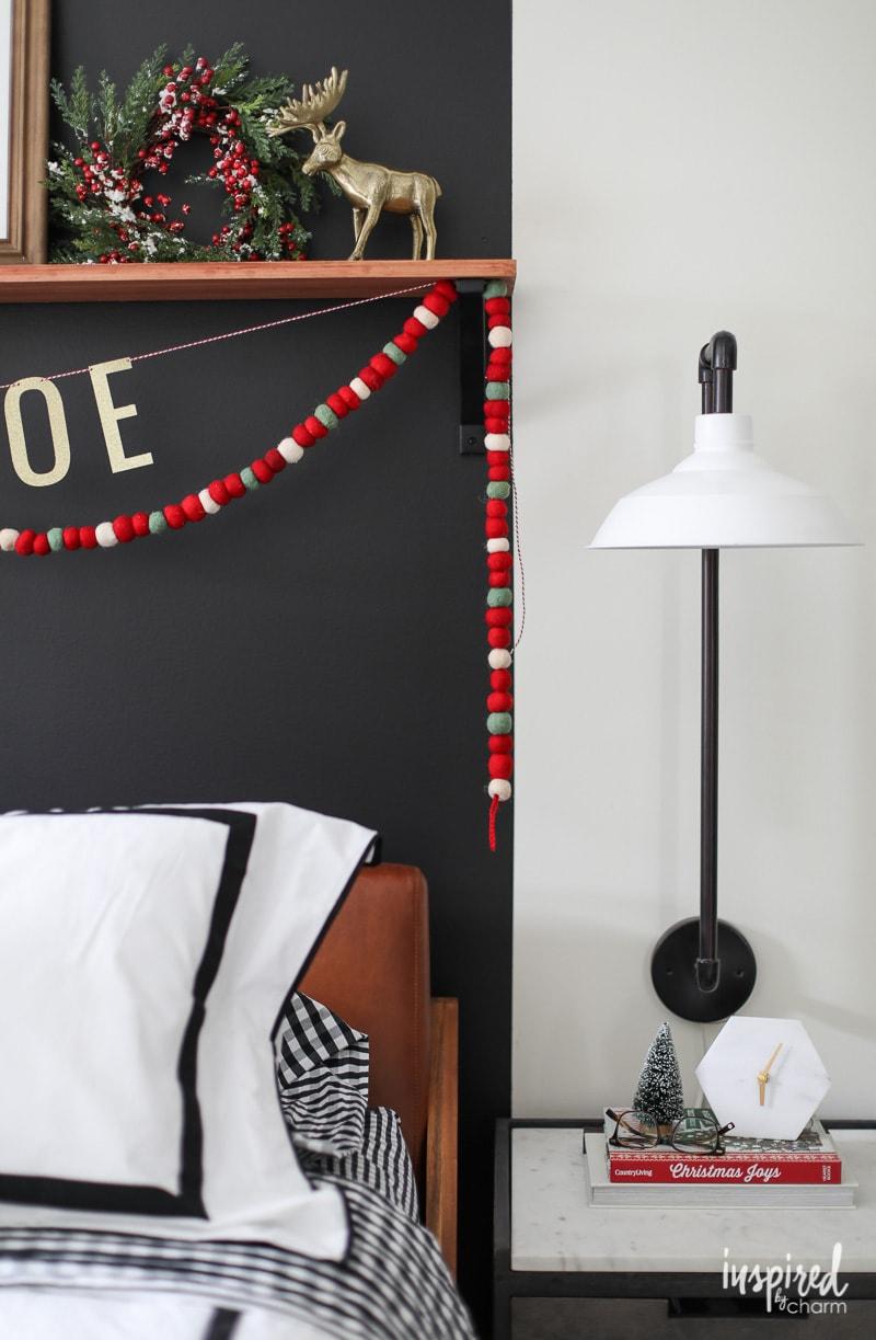 Modern Christmas Decor for a Bedroom