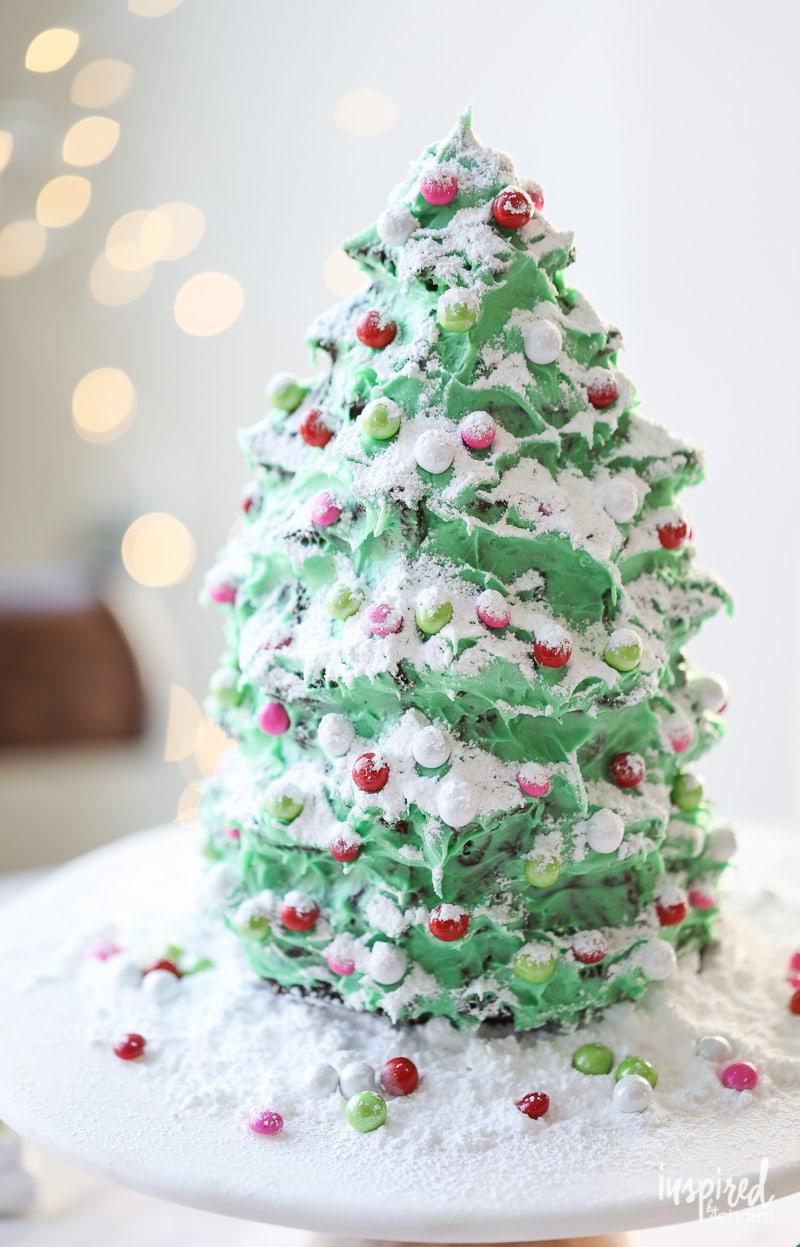 Christmas Tree Dessert Gingerbread Cake