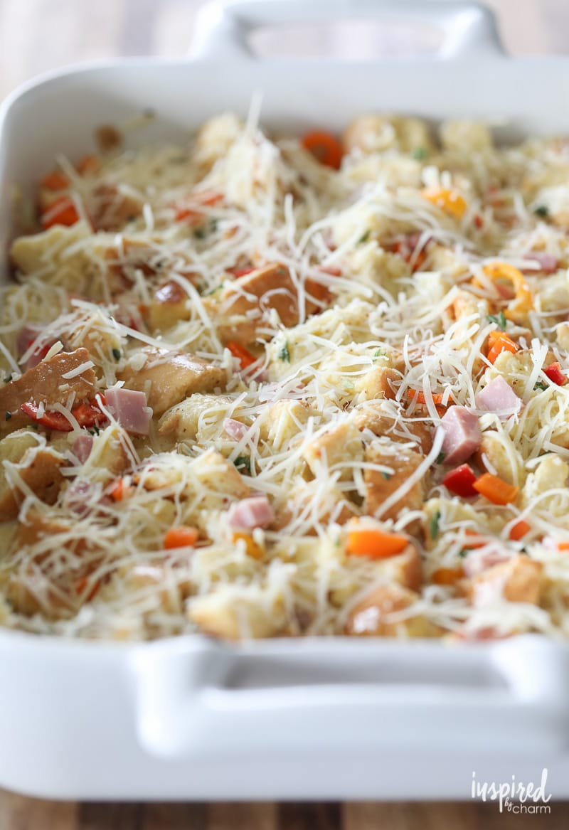 Easy Overnight Breakfast Casserole | Inspired by Charm