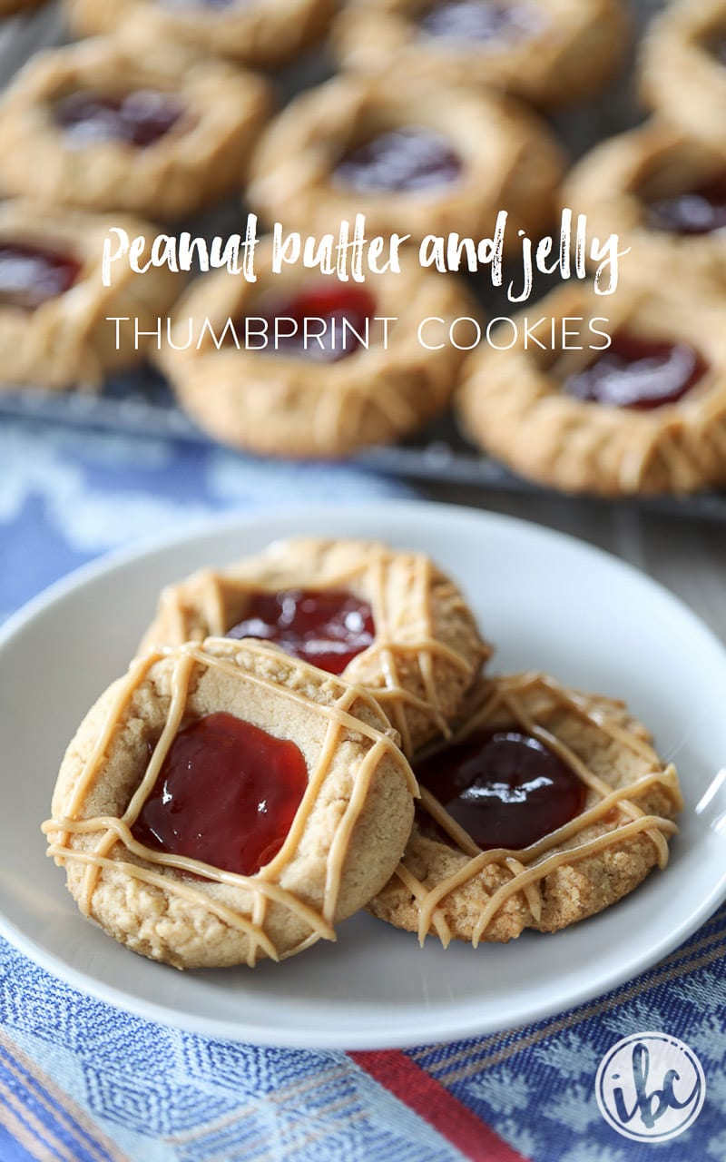 Peanut Butter and Jelly Thumbprint Cookies are a new take on a classic cookie.