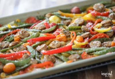 Healthy and Delicious Sausage and Pepper Sheet Pan Dinner recipe