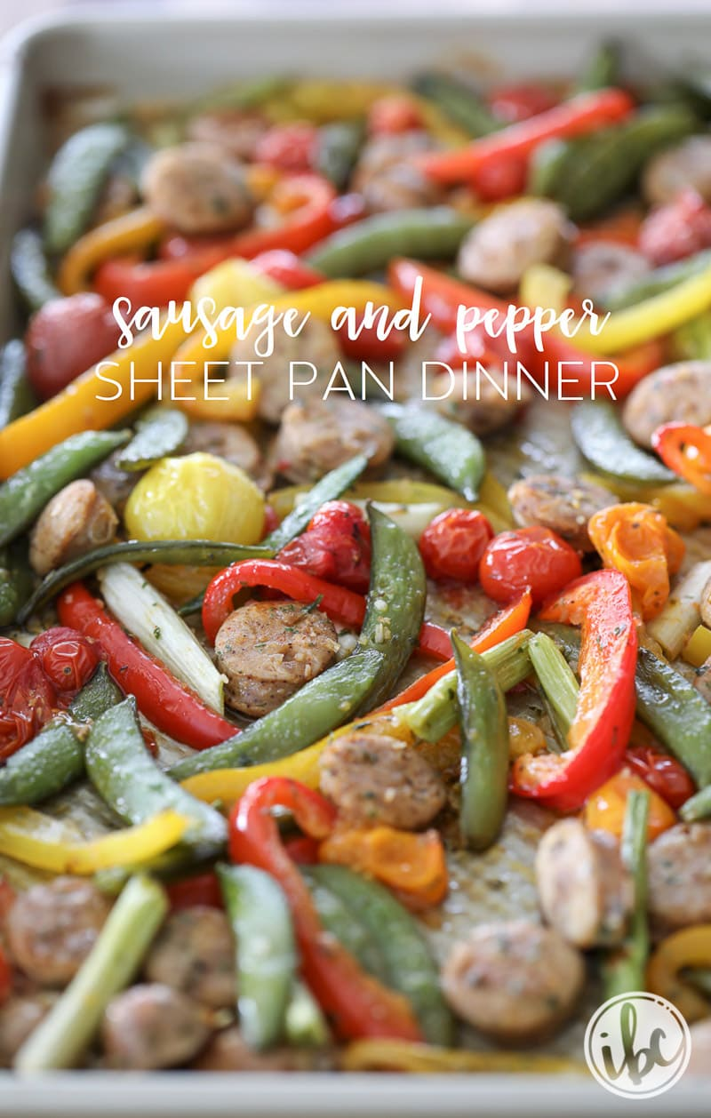 You'll love this Sausage and Pepper Sheet Pan Dinner recipe!