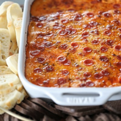 Be the winner at your next gathering with The Ultimate Sausage Pizza Dip!