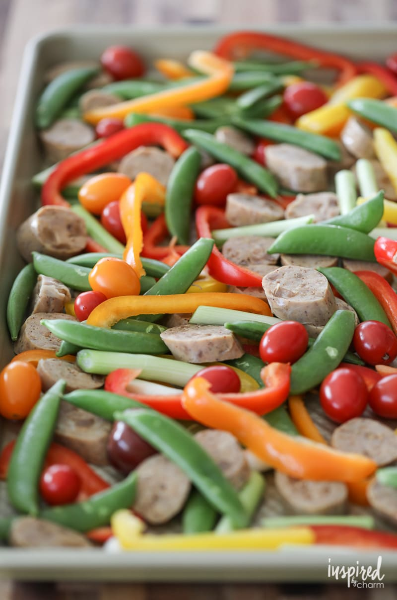 How to make a Sheet Pan Dinner with Sausage and Peppers