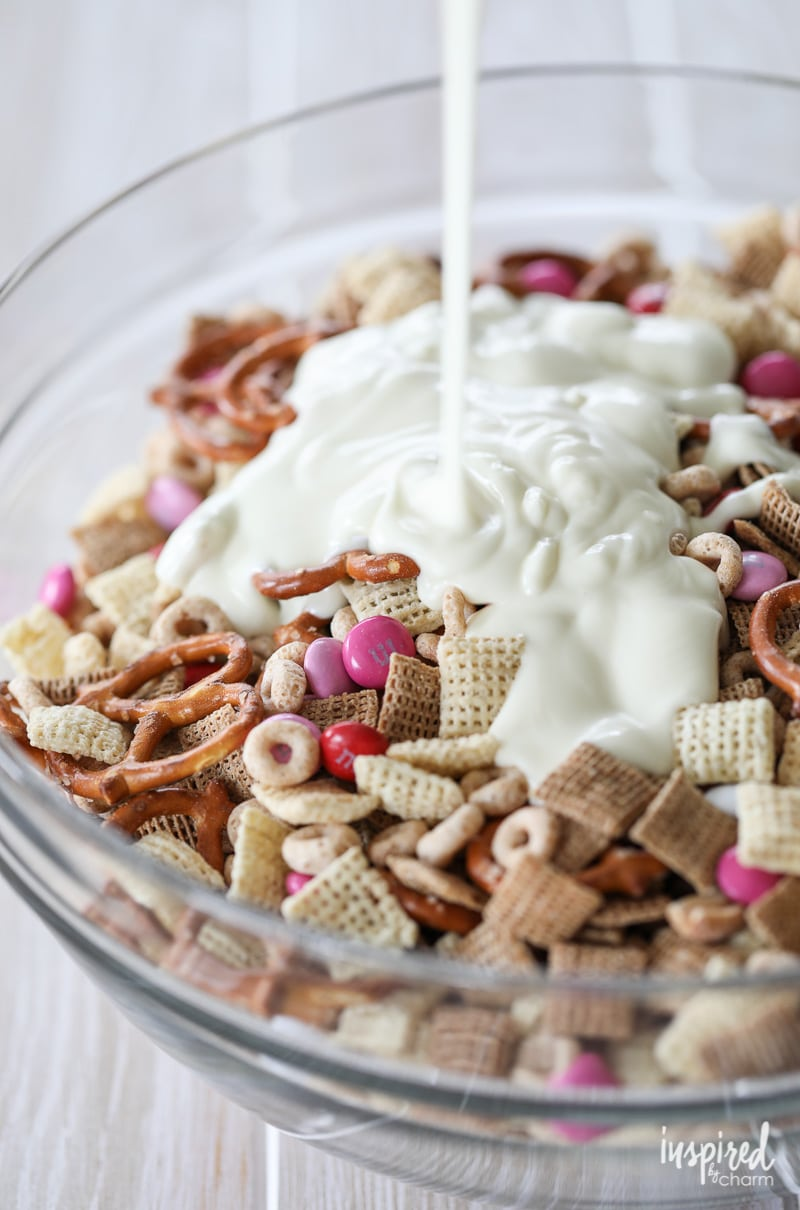 Valentineu0027s Day White Chocolate Chex Mix | Inspired By Charm