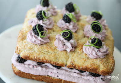 Blackberry Lime Shortcake - Dessert with a taste of summer!