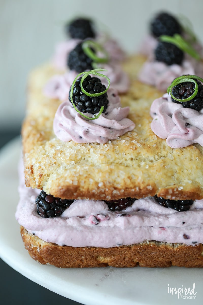 Classic shortcake gets an upgrade with this Blackberry Lime Shortcake Cake