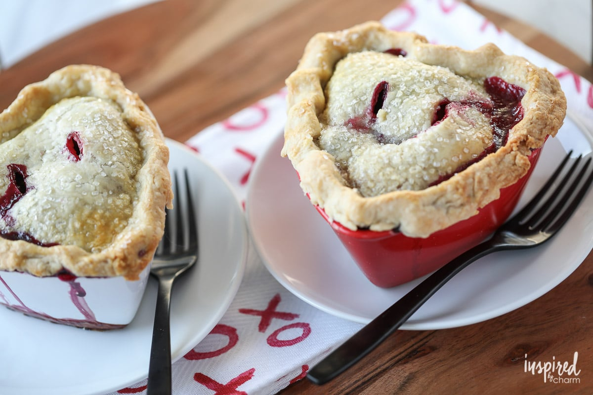 Make these Mixed Berry Pot Pies for a sweet Valentine's Day Treat