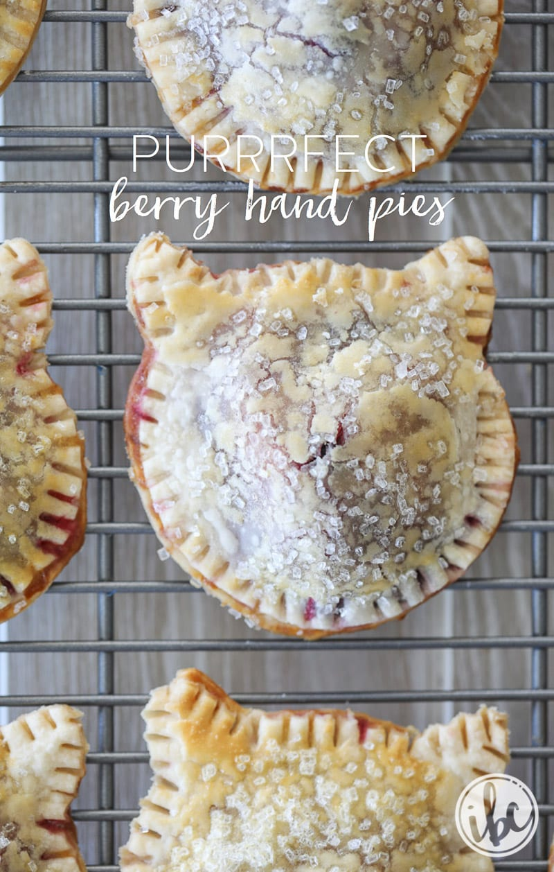 It doesn't get cuter than this! Purrrfect Berry Hand Pies