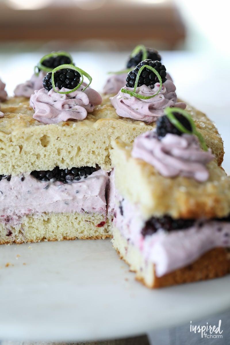 Blackberry Lime Shortcake - Dessert with a taste of summer!