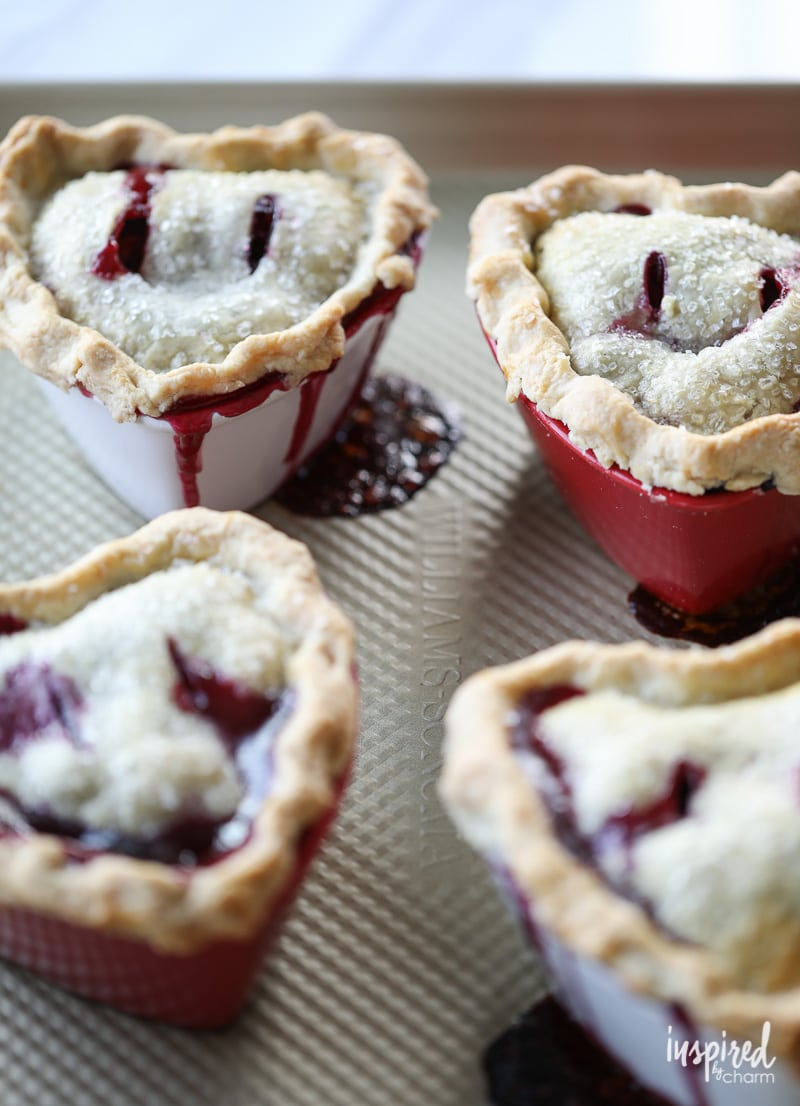 These Mixed Berry Pot Pies are perfect for Valentine's Day
