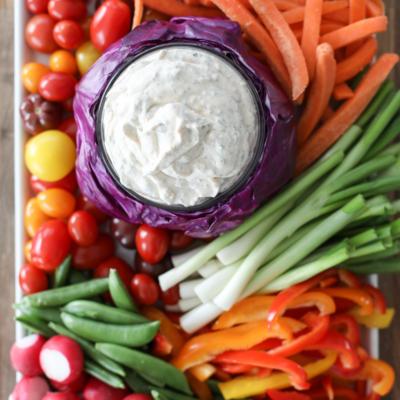 This Really Good Veggie Dip is actually THE BEST vegetable dip! #veggie #dip #recipe #snack #vegetable