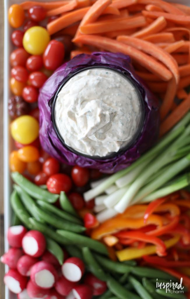 This Really Good Veggie Dip is actually THE BEST vegetable dip! #christmas #appetizer #recipe #holiday #veggie #vegetable #dip