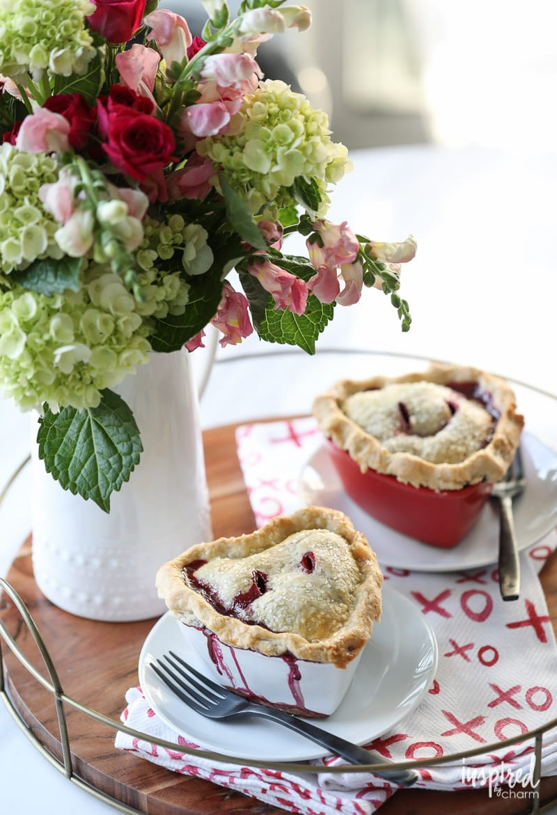 Mixer Berry Pot Pies recipe for Valentine's Day