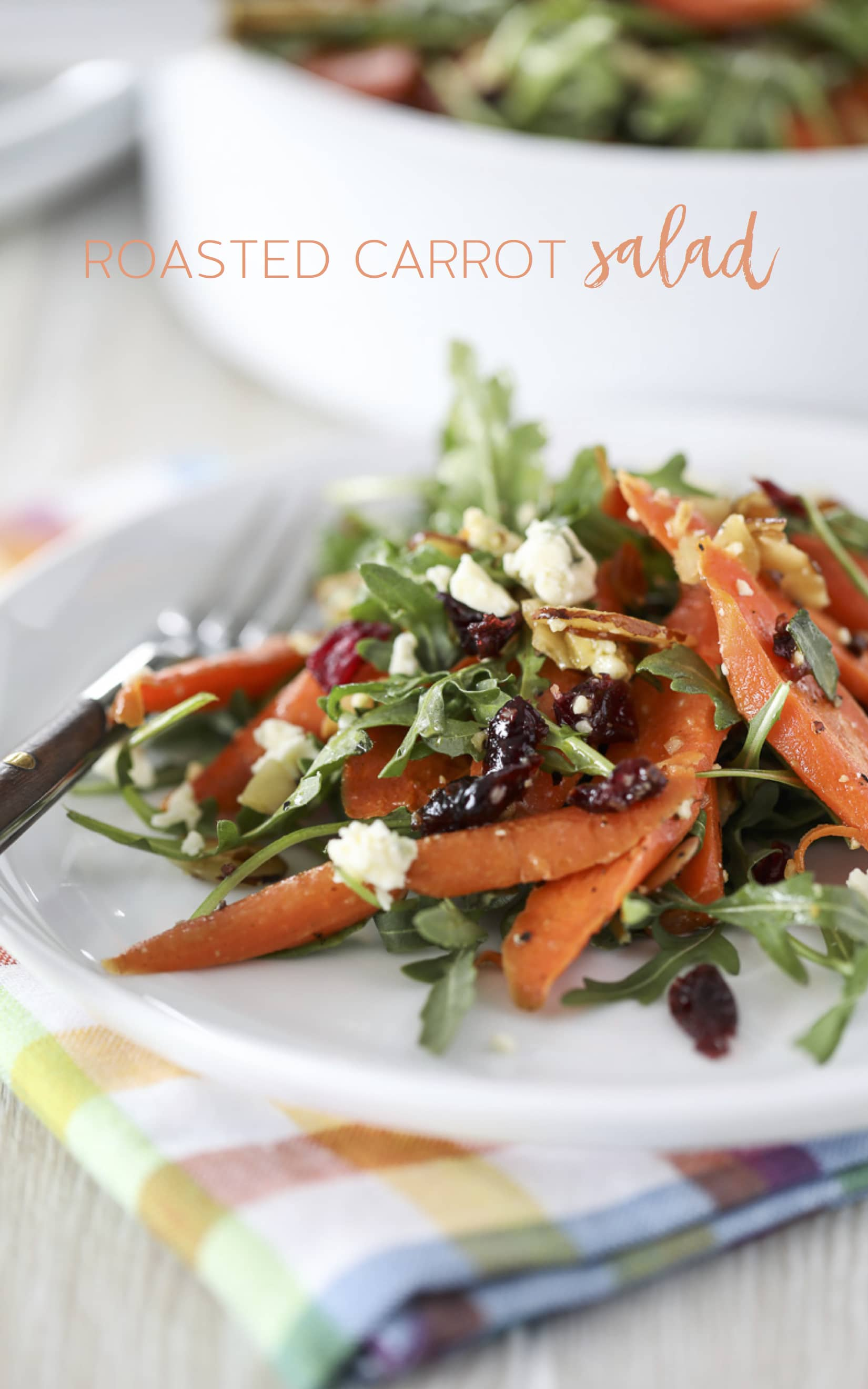 A simple and delicious Roasted Carrot Salad Recipe. #salad #carrots #recipe