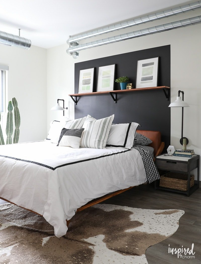 Masculine Modern Farmhouse - Organized and Updated Bedroom Design