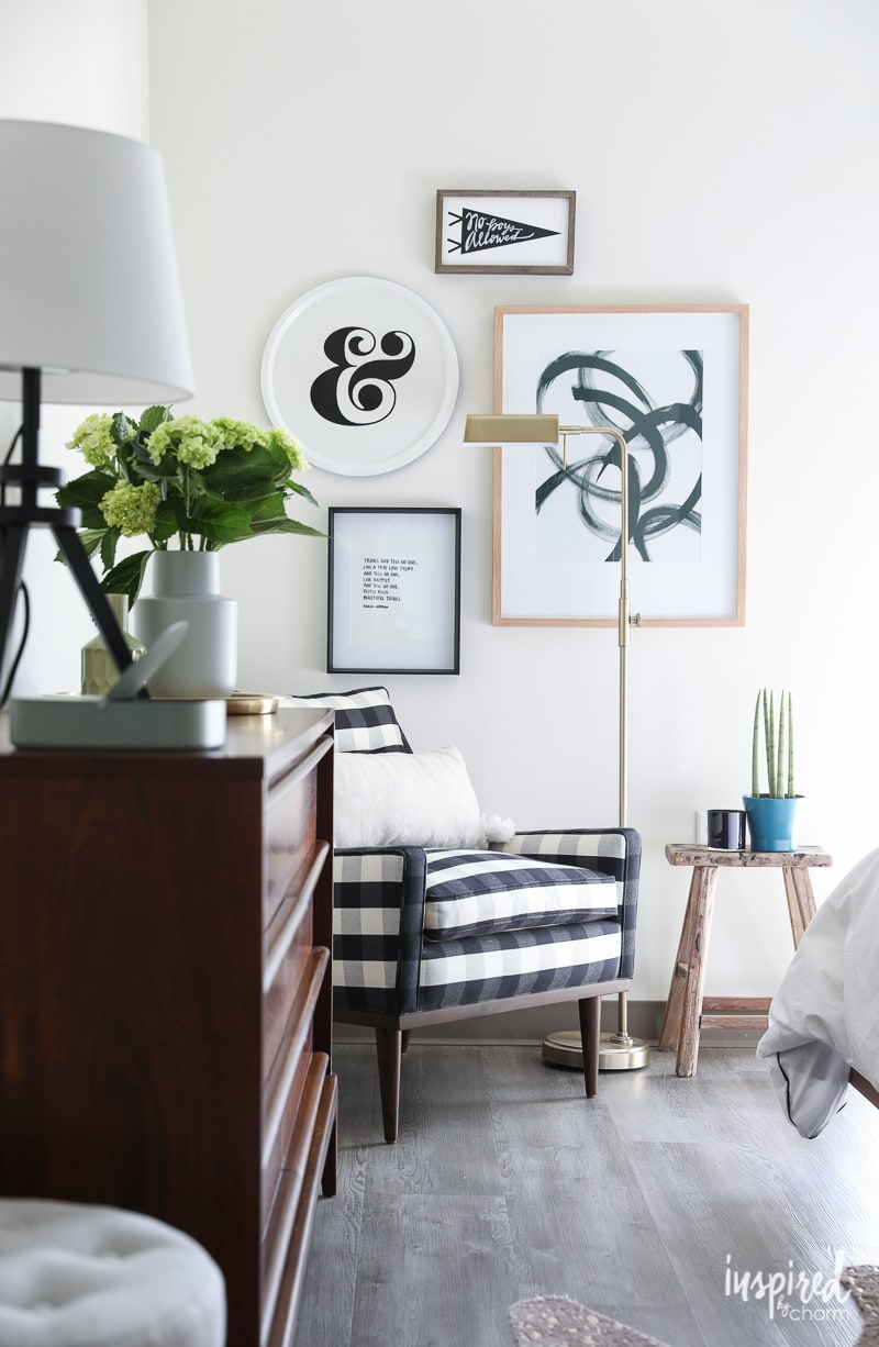 Organized and Stylish Bedroom Gallery Wall