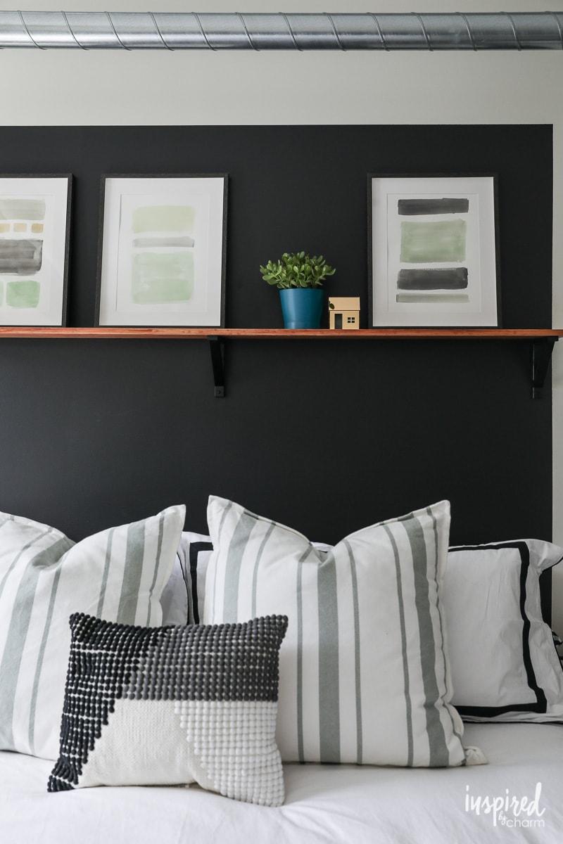DIY Bedroom Shelf - Organized and Updated Bedroom Design
