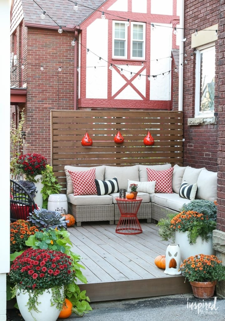 Adding a small deck to a yard.