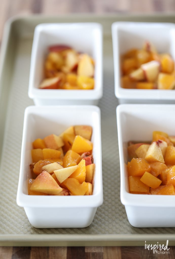 These Peach Cobblers are a cute and delicious way to serve a classic summer dessert. #peach #cobbler #dessert #recipe #summer