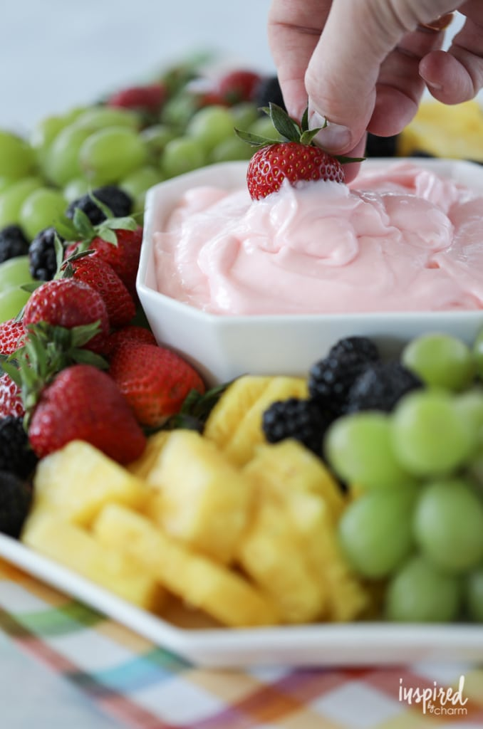 You'll love this tasty and delicious Fruit Dip Recipe. You can make it under five minutes! #fruit #dip #fruitdip #dessert #recipe