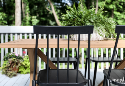 Design Plan and Furnishings for a Modern Colonial Deck and Porch