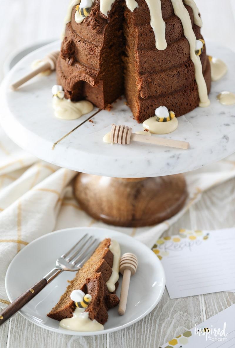 Beehive Honey Bundt Cake Beautiful Unique Dessert Recipe