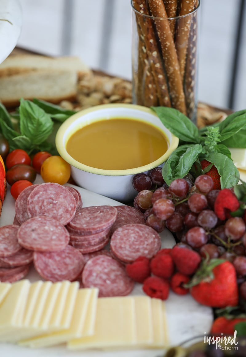 Maple Mustard - How to Set and Style The Ultimate Summer Cheese Board with Mustard Dipping Sauces