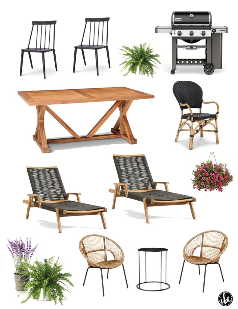 Design Plan and Furnishings for a Modern Colonial Deck