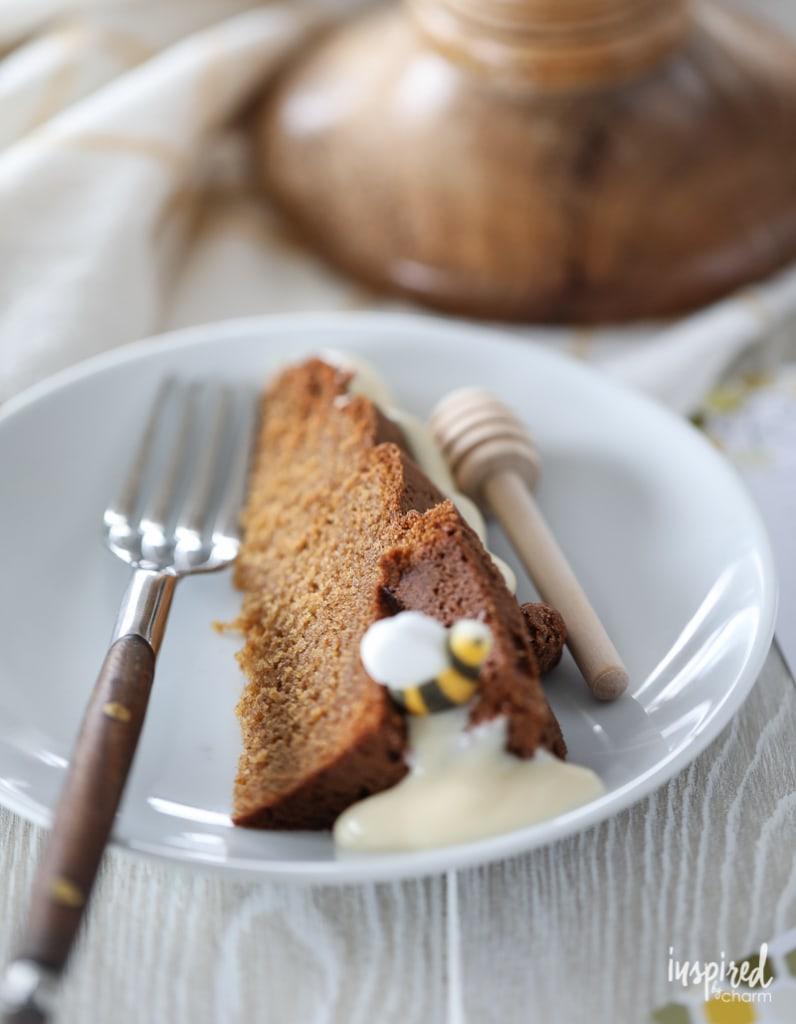 This Beehive Honey Bundt Cake is as delicious as it is beautiful! #dessert #recipe #honey #bundt #cake #beehive