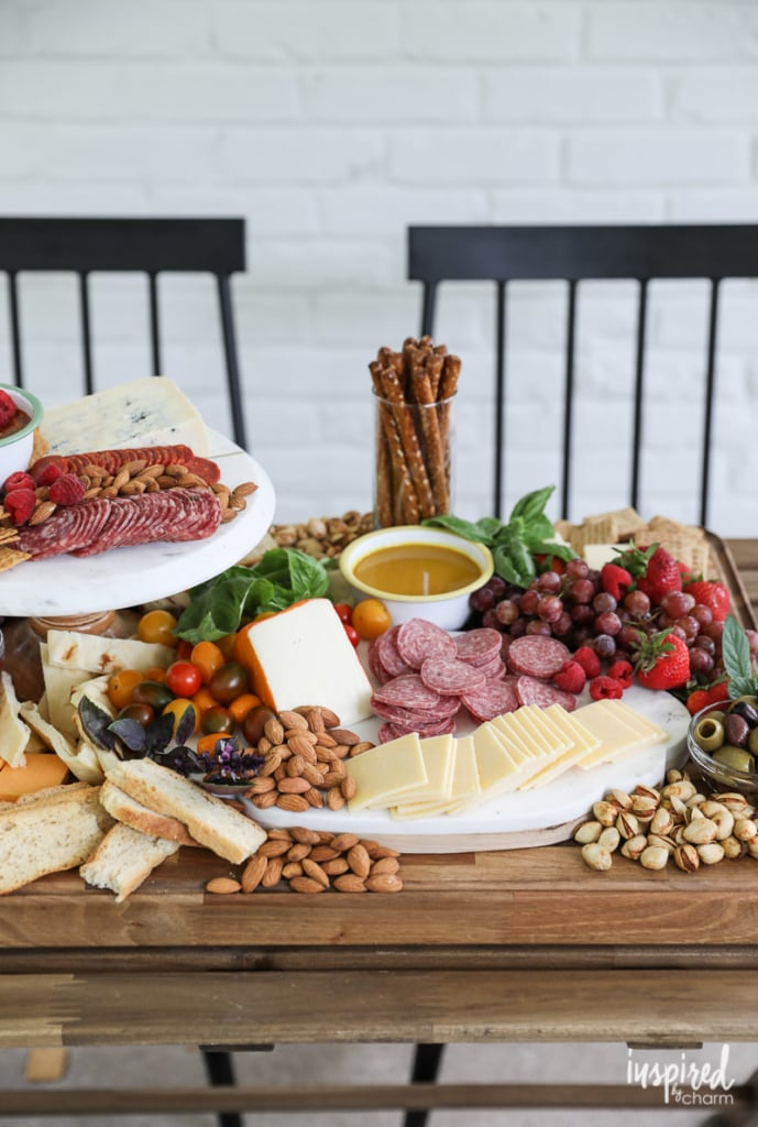 How to Set and Style The Ultimate Summer Cheese Board with Mustard Dipping Sauces