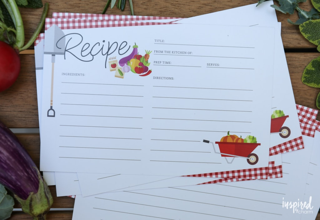 Download and print these FREE Farmers Market Recipe Cards #free #download #recipecard #recipecards #farmersmarket #summer