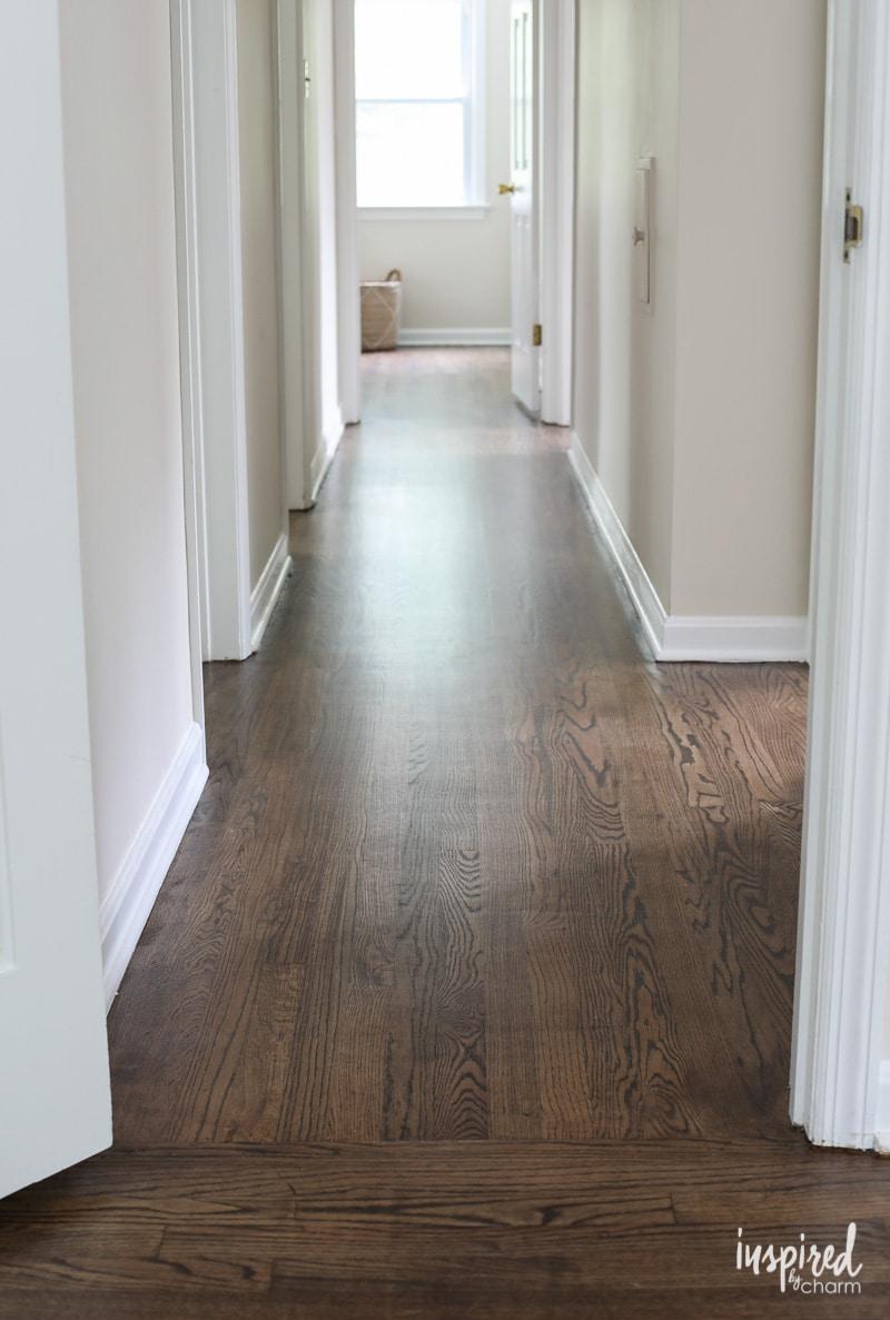 My Refinished Hardwood Floors Dark Walnut Stain