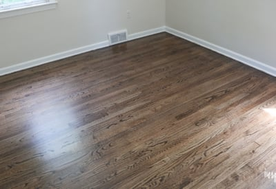 My Refinished Hardwood Floors (Dark Walnut Stain) Refinshing ...
